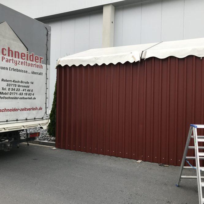Lagerzelt 4x12m 3m Seitenhöhe